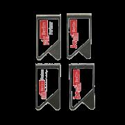 Papierklammer, Wingclip Berlin Partner, Clip mit doppelseitigem Logodruck, Büroklammer, Edelstahl Logoklammer, Mark Clip Berlin